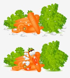 Free Character Isolated Carrot Hero Stock Image - 18359091