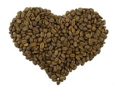 Coffee Beans In A Form Of A Heart