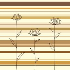 Free Flowers Over The Striped Background Royalty Free Stock Image - 18359196