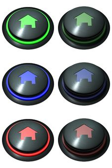 Free Button Web Home Stock Image - 18359421