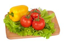 Free Fresh Vegetables On Wooden Board Royalty Free Stock Photography - 18359457