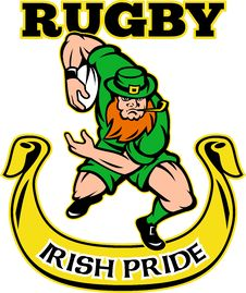 Free Irish Leprechaun Rugby Player Royalty Free Stock Photos - 18359668