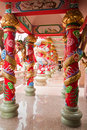 Free A Beautiful Corridor In Chinese Temple Royalty Free Stock Image - 18362536