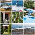 Free Beautiful Tropic Lifestyle Collage Royalty Free Stock Photo - 18363145