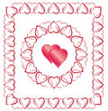 Free Love Heart Border, Frame Royalty Free Stock Images - 18367089