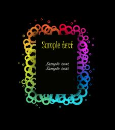 Free Colorful Vector With Your Text Stock Photo - 18360420