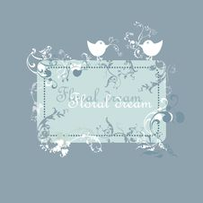 Free Floral Text Area Vector Royalty Free Stock Photos - 18360498