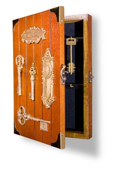 Free Wooden Box For Hanging Keys Royalty Free Stock Photo - 18360925