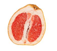 Free Close Up Of Grapefruit Section Stock Images - 18361064