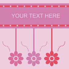Free Cute Spring Card Royalty Free Stock Photo - 18361935