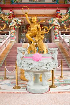 Free Sculpture Of Kid Naja In Chinese Temple Royalty Free Stock Image - 18362096