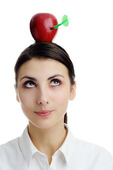 Free Red Apple On Head. Royalty Free Stock Images - 18362459