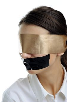 Free Woman In Blindfold Stock Photo - 18362500