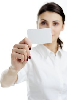 Free Blank Business Card In A Hand Stock Photos - 18362533