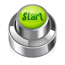 Start Button Royalty Free Stock Photo