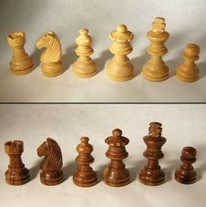 Free Wooden Chess Set Royalty Free Stock Images - 18362839
