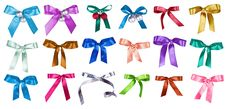 Free Set Of Color Bows Stock Photo - 18362980