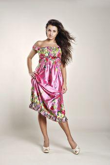 Free Pink Sundress Royalty Free Stock Photo - 18365505