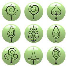 Free Tree Icons Stock Photography - 18366462