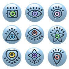 Free Eye Icons Royalty Free Stock Images - 18366489