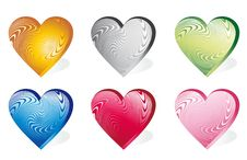Set Icon Hearts Stock Photos