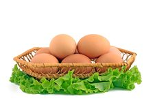 Free Eggs In A Basket Stock Images - 18367304