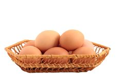 Free Eggs In A Basket Stock Photos - 18367333