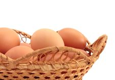 Free Eggs In A Basket Stock Images - 18367354