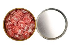Free Open Box With Candy Isolated Royalty Free Stock Photography - 18367677