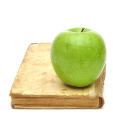 Free Old Book With Apple Stock Image - 18368211