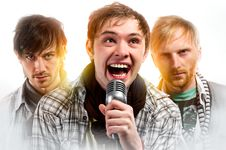 Free Portrait Of Three Handsome Musicians Royalty Free Stock Image - 18368486