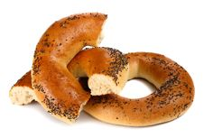 Free Bagel With A Poppy Stock Photography - 18368702