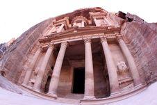 Imposing Monastery In Petra Stock Image