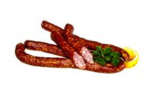 Free Sausages Handmade By The Butcher Stock Photography - 18369782