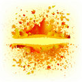 Free Autumn Leaves Background Card Template. EPS 8 Stock Photography - 18375112