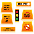 Free Traffic Signal With Boards Royalty Free Stock Photos - 18375718