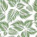 Free Seamless Pattern With Green Leaf Stock Photography - 18378382