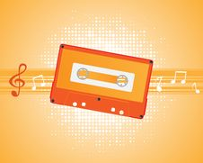 Free Musical Composition Audiocassette. Royalty Free Stock Photos - 18370038