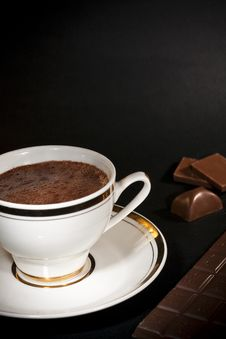 Luxury Chocolate Drink And Bars Royalty Free Stock Images