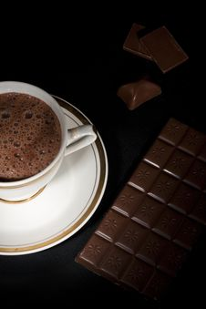 Luxury Chocolate Art, From Up Royalty Free Stock Photos