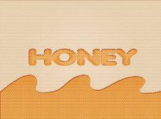Free Illustration Of A Honeycomb Background Stock Image - 18370931