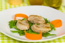 Free Roasted Pork Fillet - Tenderloin With Vegetables Stock Photo - 18372280