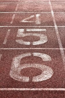 Free Number On A Running Track Royalty Free Stock Photos - 18372408
