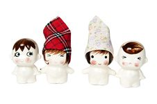 Free Home Made The Lover Ceramic Dolls Royalty Free Stock Images - 18372479