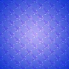 Blue Seamless Floral Wallpaper