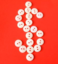 Free Figure $ From Buttons Royalty Free Stock Photo - 18374445