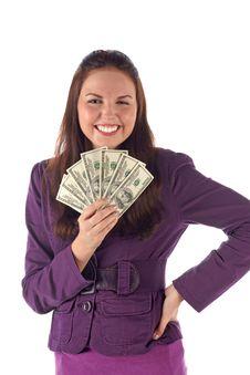 Free Happy Businesswoman (isolated) Stock Photos - 18374623