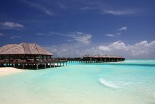 Free Water Villa In Maldives Royalty Free Stock Photos - 18375238