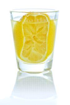 Free A Shot Of Lemon Liqueur Royalty Free Stock Photo - 18375315