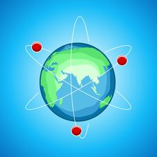 Atom Globe Stock Photos